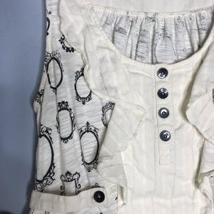 Anthropologie Tops - 🎄 Little Yellow Button Anthropologie Frame Blouse